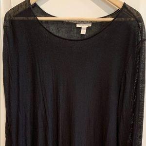 Eileen Fisher Hi Lo Sweater in Black.  Size L